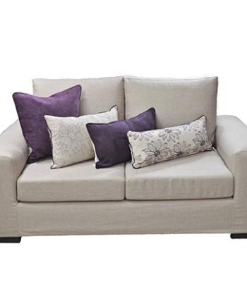 Sofa renata con funda en lino - Funda sofa blanca ...