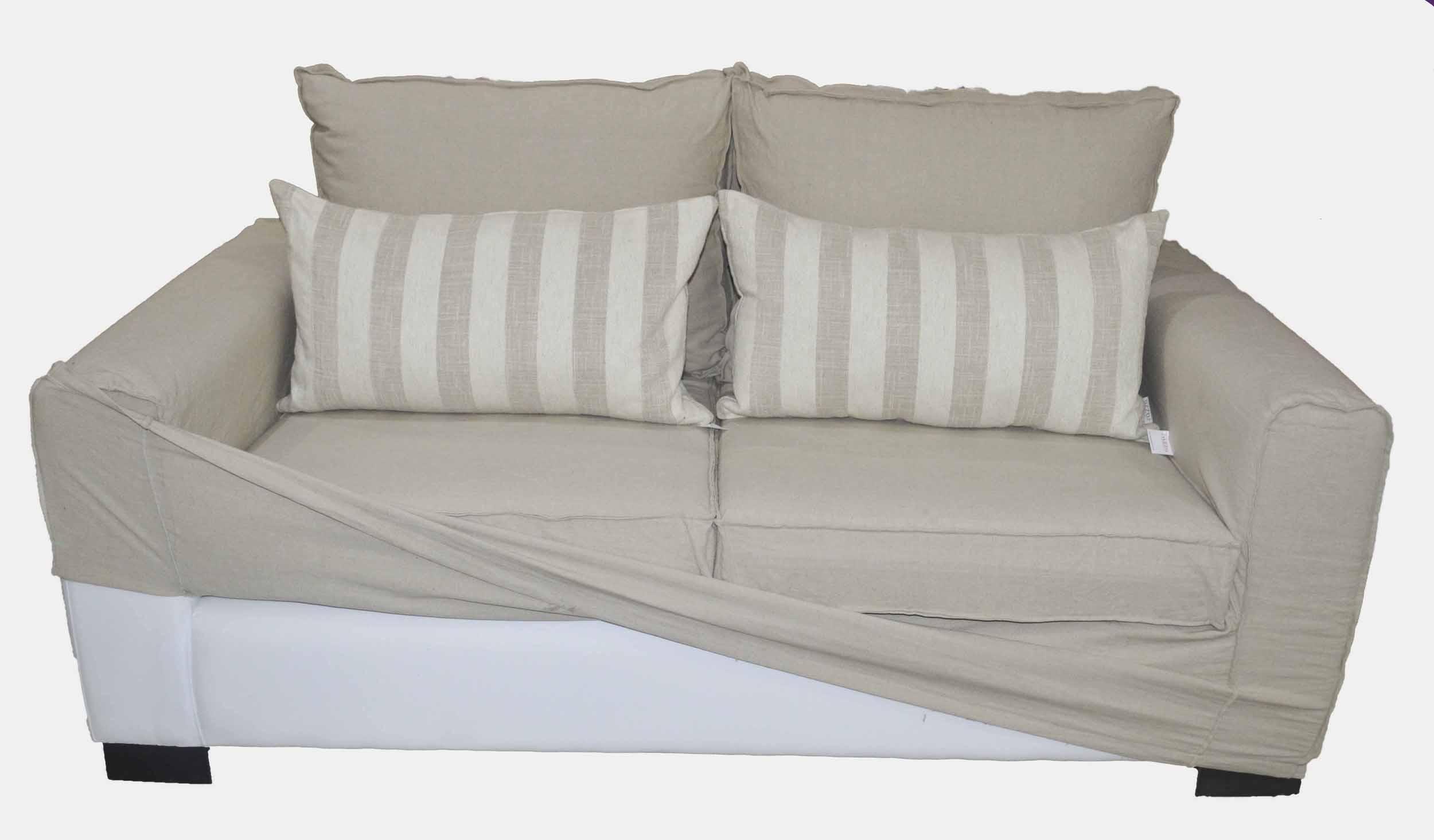 Sofa renata con funda en lino - Fundas de sillones a medida ...