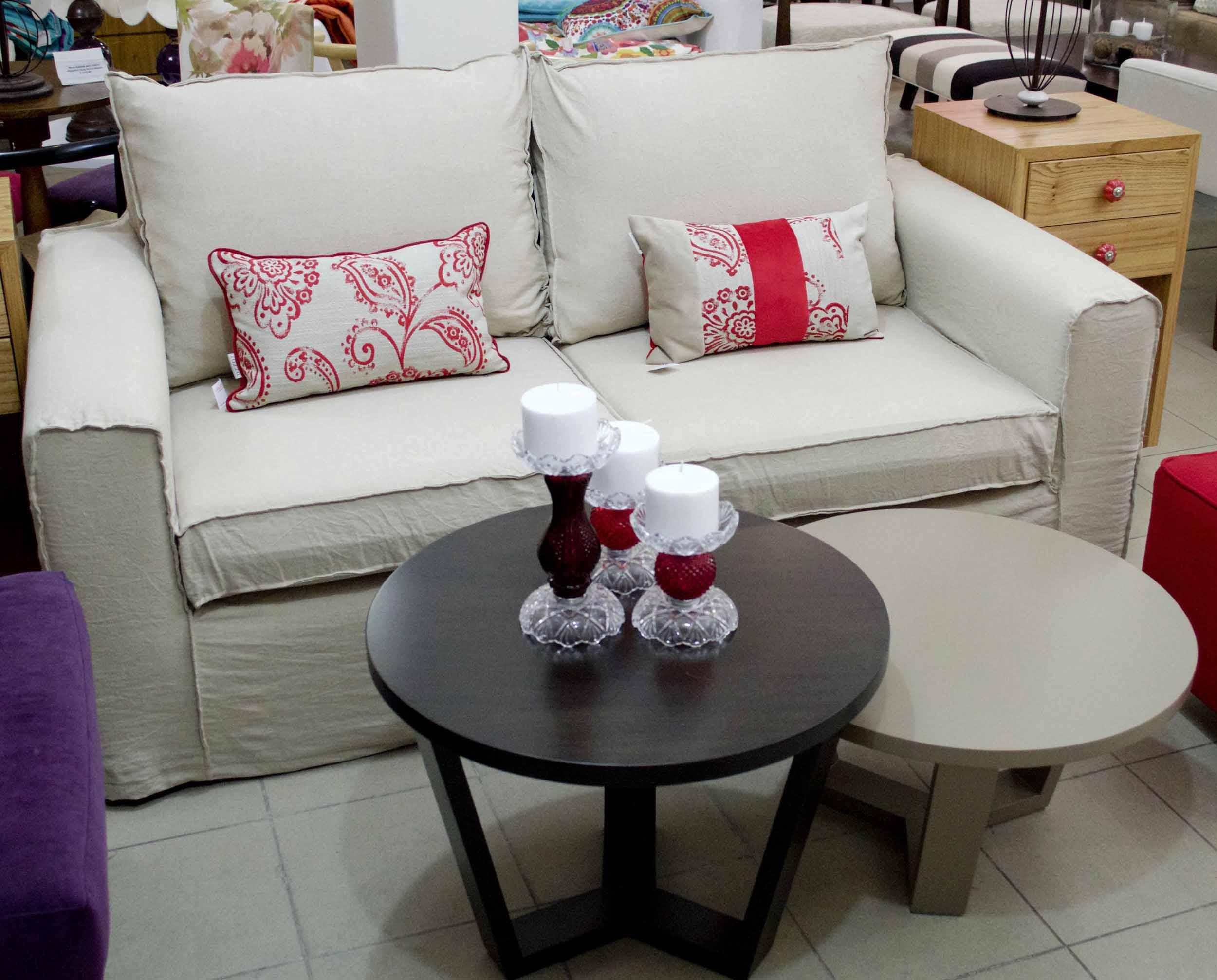 Sofa renata con funda en lino - Sillones con fundas ...