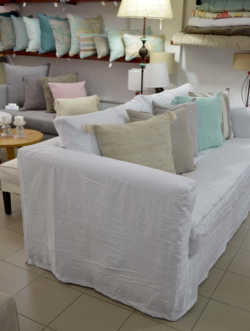 Sofa sicilia con funda en tusor blanco - Sillones con fundas ...