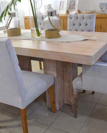 Conjunto mesa comedor TT con 4 sillas y 2 cabeceras Classic |